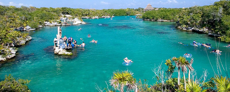 World's largest natural acquarium park at Xel-Ha adventure